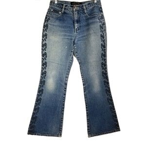 Zana di Embellished Embroidered Boot Cut Jeans Sz7